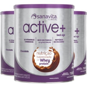 Kit 3 ACTIVE+ Best Age chocolate 400g Sanavita