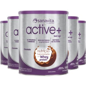 Kit 5 ACTIVE+ Best Age chocolate 400g Sanavita