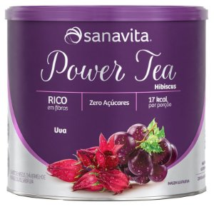 Power Tea Chá Hibiscus Uva 200g Sanavita