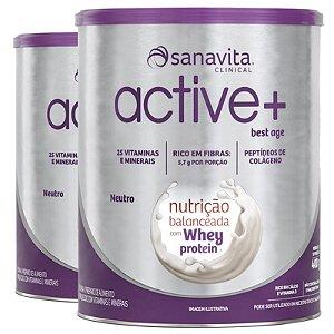 Kit 2 ACTIVE+ Best Age Neutro 400g Sanavita