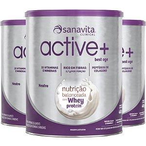 Kit 3 ACTIVE+ Best Age Neutro 400g Sanavita