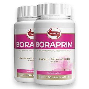 Kit 2 Óleo de Boragem e Prímula 1g Boraprim 60 cápsulas da Vitafor