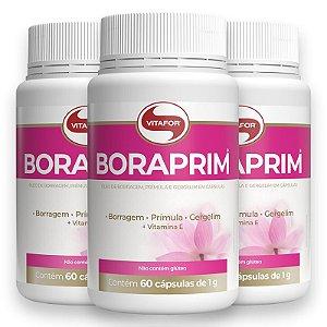 Kit 3 Óleo de Boragem e Prímula 1g Boraprim 60 cápsulas da Vitafor