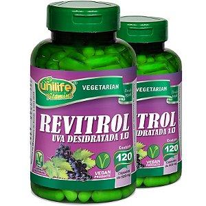 Kit 2 Resveratrol Uva desidratada 120 cápsulas Unilife