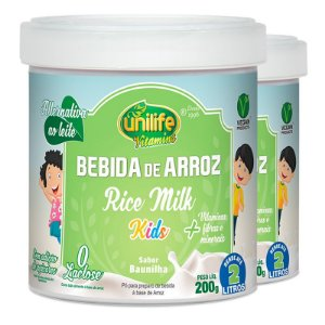 Kit 2 Bebida de Arroz sem Lactose Kids Unilife 200g