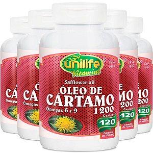 Kit 5 Óleo de Cartamo 1200mg com 120 cápsulas Unilife