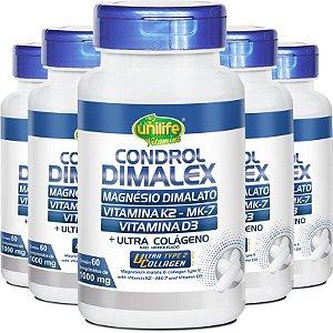 Kit 5 Condrol Dimalex 1000mg Unilife 60 Comprimidos