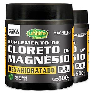 Kit 2 Cloreto de Magnésio Hexahidratado P.A Unilife 500g em pó