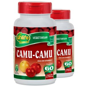 Kit 2 Camu Camu 500mg Vitamina C Unilife 60 Cápsulas