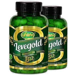 Kit 2 Levegold Levedo Cerveja com Vitamina B12 Unilife