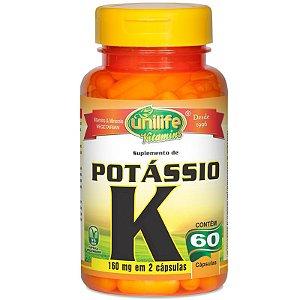 Kit com 5 Potássio quelato 60 cápsulas Unilife