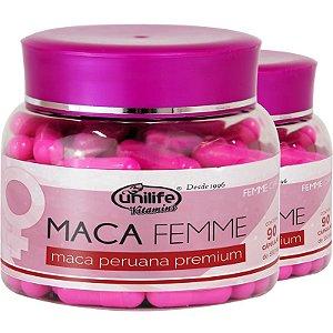 Kit 2 Maca Femme 560mg Maca Premium Unilife 90 Cápsulas