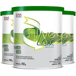 Kit 3 Alive Lax laxante natural a base de fibras Chá mais 250g