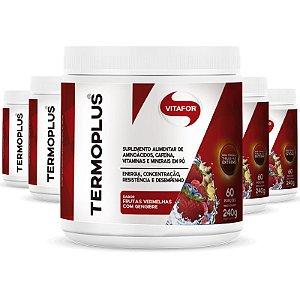 Kit com 5 Termoplus da Vitafor 240g Sabor Frutas Vermelhas