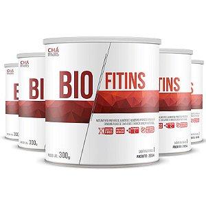 Kit com 5 BioFitins Solúvel 200g da Chá Mais Sabor Natural
