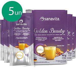 Kit 5 Golden Beauty Super food golden milk 60g Sanavita