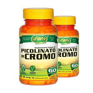 Kit 2 Picolinato de Cromo Unilife 60 cápsulas