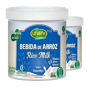 Kit 2 Bebida de Arroz sem Lactose Vegan Unilife 200g