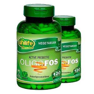 Kit 2 Oligo-Fos Frutooligossacarídeos 120 cápsulas Unilife