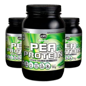 Kit 3 Pea Protein 1kg Proteína vegetal Unilife natural