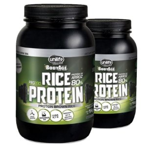 Kit 2 Rice Protein Proteína de Arroz Unilife 1kg Chocolate