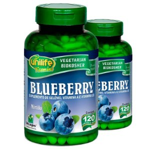 Kit 2 Blueberry Unilife 120 Cápsulas