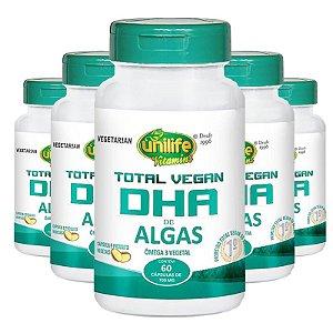 Kit 5 Dha total Vegan Unilife 60 Cápsulas