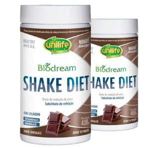 Kit 2 Shake Diet Biodream 400g Sabor Chocolate Unilife
