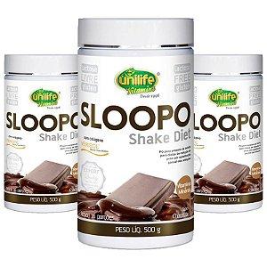 Kit 3 Shake Diet com colageno  400g Sabor Chocolate Unilife