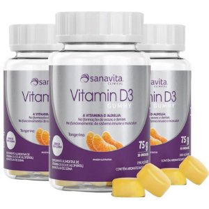 Kit 3 Vitamina D3 GUMMY 30 cápsulas da Sanavita