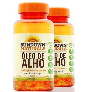 Kit 2 Óleo de Alho 1500mg Sundown 100 cápsulas