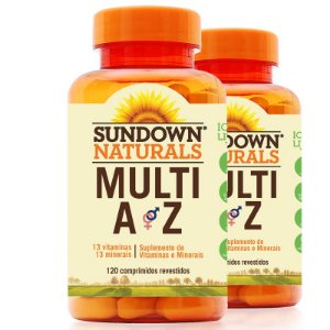 Kit 2 Multi A-Z Mix de Vitaminas e Minerais Sundown 120 cápsulas