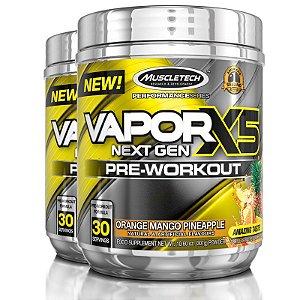 Kit 2 Vapor X5 Pré treino da Muscletech 30 doses - Frutas cítricas