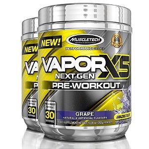 Kit 2 Vapor X5 Pré treino da Muscletech 30 doses - Uva