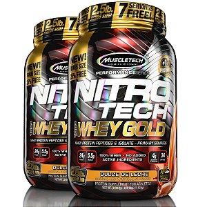 Kit 2 Nitro tech Whey Protein Gold Muscletech 997g Doce de leite