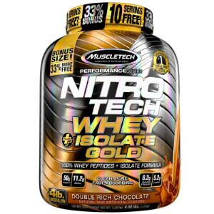 Nitro tech Whey Gold Whey protein isolado Muscletech 1,8kg Chocolate