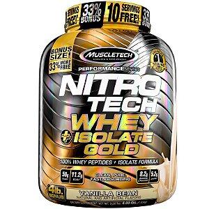Nitro tech Whey Gold Whey protein isolado Muscletech 1,8kg Baunilha