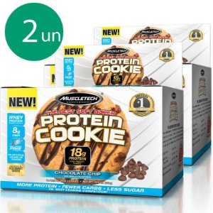 Kit 2 Protein Cookies Biscoitos proteicos da Muscletech Chocolate Chip
