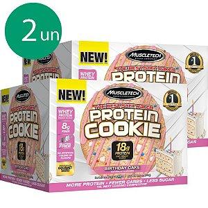 Kit 2 Protein Cookies biscoito proteico Muscletech Birthday Cake