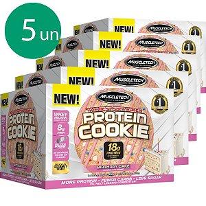 Kit 5 Protein Cookies biscoito proteico Muscletech Birthday Cake