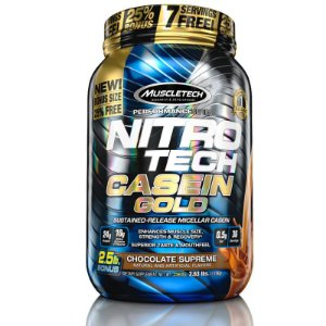 Nitro tech Caseina Gold Muscletech 1,1kg Chocolate Supreme