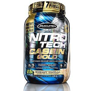 Nitro tech Caseina Gold Muscletech 1,1kg creme de baunilha