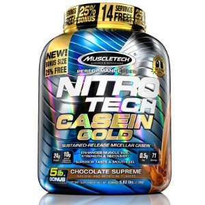Nitro tech Caseina Gold Muscletech 2,3kg Chocolate