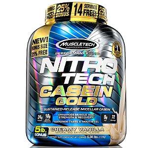 Nitro tech Caseina Gold Muscletech 2,3kg Creme de baunilha