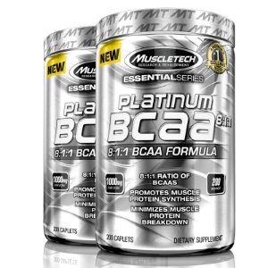 Kit 2 Platinum Bcaa 8:1:1 de 1000 mg 200 tablets Muscletech