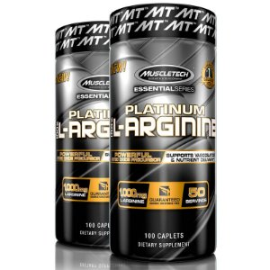 Kit 2 Platinum L-Arginine 100% Arginina 100 tablets Muscletech