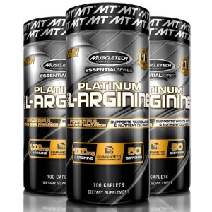 Kit 3 Platinum L-Arginine 100% Arginina 100 tablets Muscletech