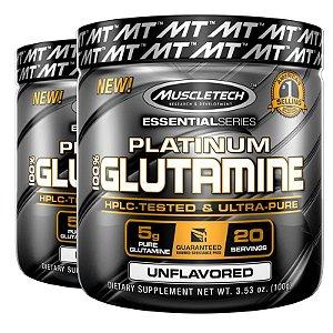 Kit 2 Platinum Glutamina 100% pura da Muscletech 400g