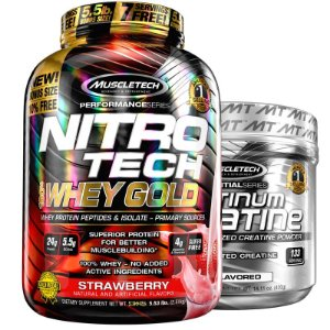 Kit Nitro tech Whey e Creatina Muscletech 2.5g Chocolate