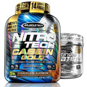 Kit Nitro tech Caseína e Creatina Muscletech 2,3kg Chocolate